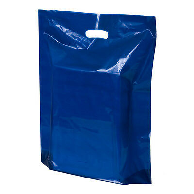 500 LDPE Plastic Glossy Die Cut Handle Bags I  FREE US ship I Party I (Ldpe Plastic Bags)