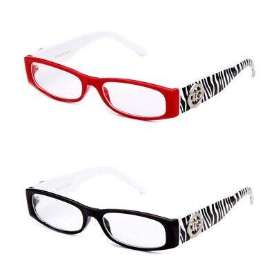 Reading Glasses Zebra Print Design Readers Black Red Readers (Zebra Print Design)