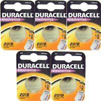 5 X Dl2016 Duracell Litio Moneta Batterie 3v 2016 Cr2016 Ecr2016 - duracell - ebay.it