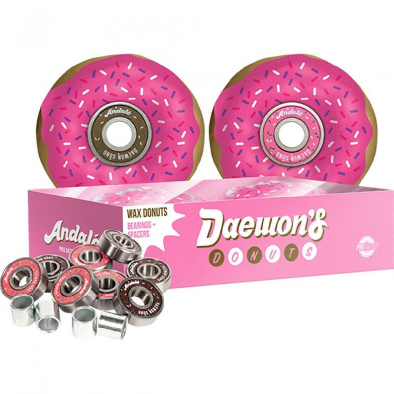 ANDALE - Daewon Song Skateboard Bearings + DONUT Wax (NEW & SEALED) - Set of 8