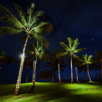 Luces de Navidad Para Exterior LED Energía Solare Tubo Brillante Blanco Frío...
