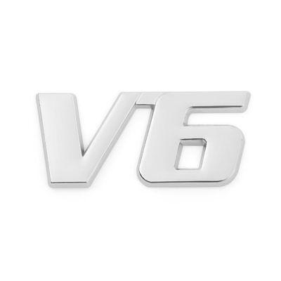 3D V6 EMBLEM B-WARE LOGO SCHRIFTZUG XANNOX CHROM STICKER TUNING AUTO AUFKLEBER gebraucht kaufen  Großrosseln