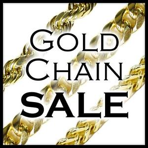 GOLD CHAINS AT SPECTACULAR PRICES