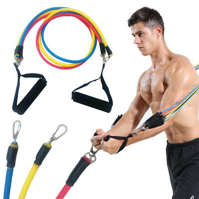 Exercise Resistance Bands Yoga Body Workout Stretch Heavy Duty Tubes Fitness New