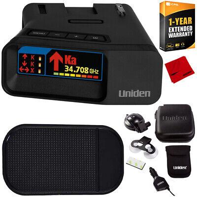 Uniden R7 Long Range Police Laser/Radar Detector w/ Arrow Alert +Warranty Bundle
