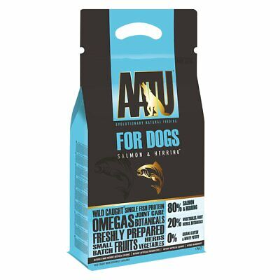 AATU 80/20 Dry Dog Food, Salmon, High Protein, Grain Free Recipe, 1.5 kg