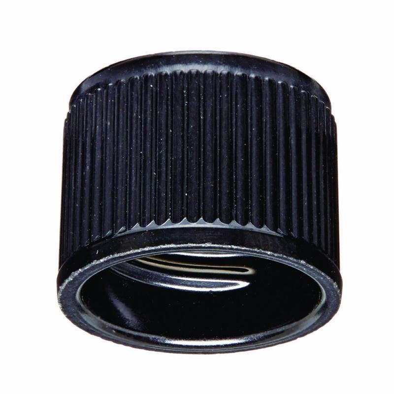 Screw Caps, 12/13mm, Bakelite, Teflon Liner, Black Color (Case 1000)