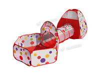 Outdoor/Indoor Play Tent Tunnel Ball Pit and Playhouse (3pcs Set) + BALLS INCLUDED