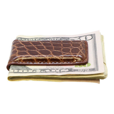 Magnetic Money Clip Genuine American Alligator Skin Factory Direct Made in USA