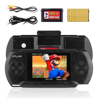 HANDHELD PORTABLE PVP 3000 GAMES CONSOLE RETRO MEGADRIVE VIDEO GAME KIDS GIFT...