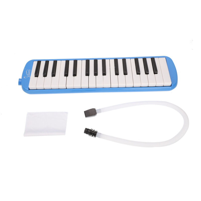 Glarry 32-Key Melodica with Blowpipe & Blow Pipe Blue