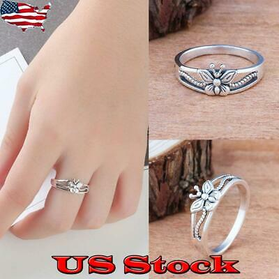 Women's Wedding Engagement Ring Butterfly Ladies Jewelry Party Gifts Casual US ()