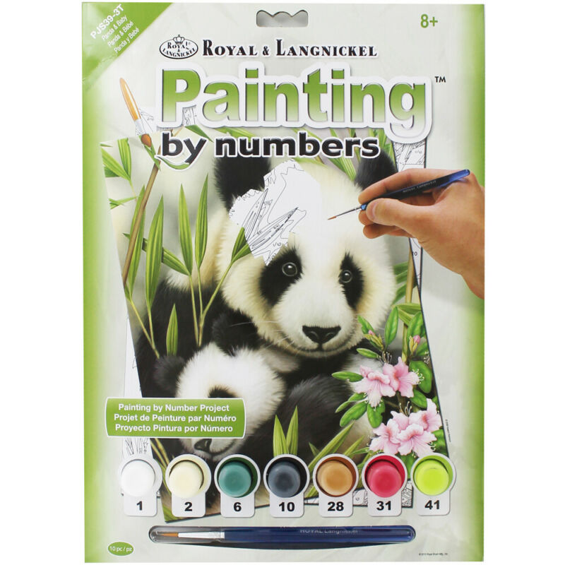 Painting+By+Numbers%3A+Panda+And+Baby%2C+Art+%26+Craft%2C+Brand+New