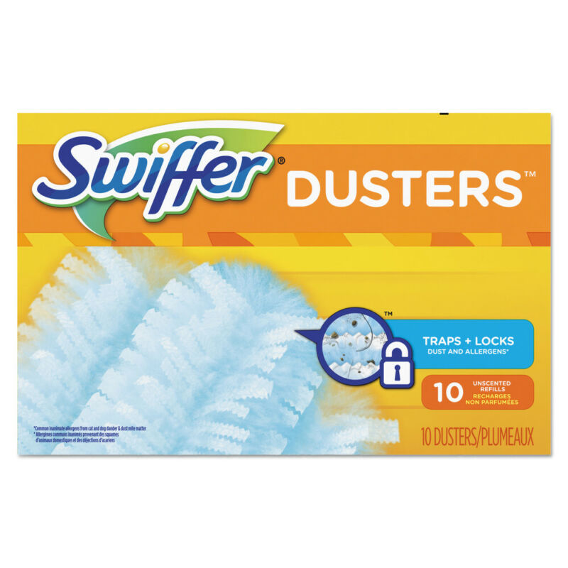 P&G Professional Refill Dusters, Dust Lock Fiber, Light Blue, Unscented, 10/box,