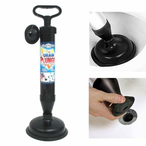 High Pressure Powerful Pump Multi-Drain Plunger Bathroom Kitchen Toilet Shower