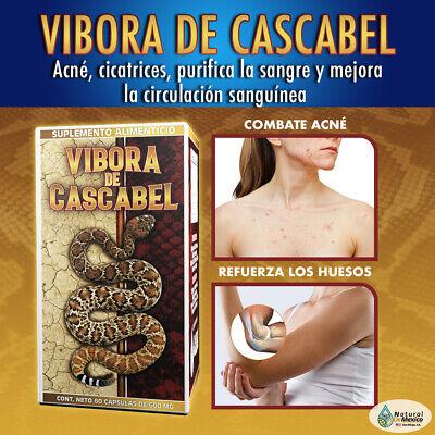 Vibora de Cascabel Suplemento Alimenticio purifica la sangre, acne, cicatrices