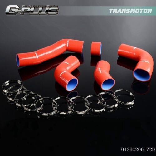 OBX Red Intercooler Hose Toyota Supra 93-98 Turbo Hoses