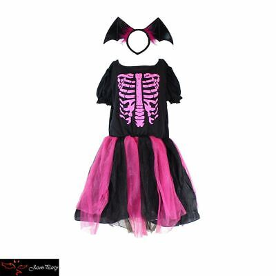 Skeleton Costume Kids Tween Halloween Fancy Dress Girls Party - Tween Girls Halloween Costumes