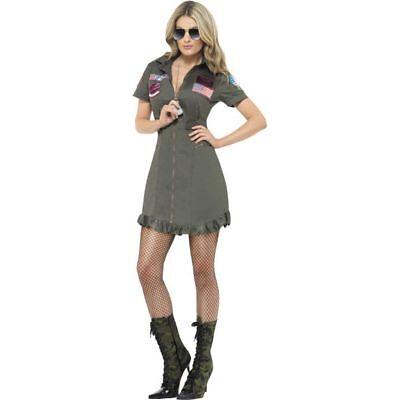 Smi - Top Gun Damen Kostüm Pilotin Overall Karneval - Top Gun Kostüm Damen Overall