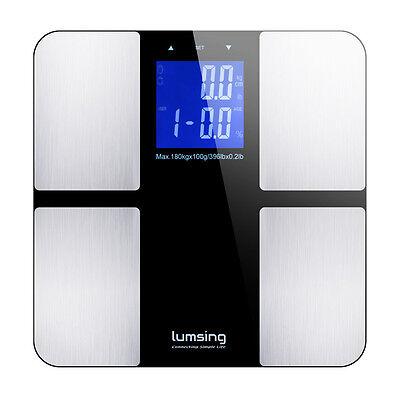 Bathroom Lcd Digital Body Weight Scale Fat Muscle Bone Calorie Bmi 400Lbs 180Kg