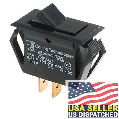 Carling Technologies Ta201-tb-b Rocker Switches Spst On-none-off Blk
