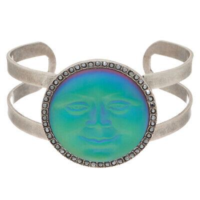 KIRKS FOLLY Seaview Moon Cuff Bracelet   sphinx / silvertone