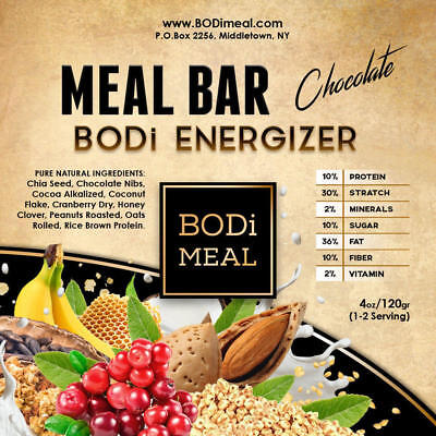 BODi ENERGIZER MEAL BAR - Complete Nutritional (1 to 5 Servings)