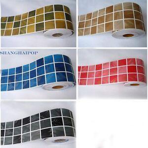 autocollantes bordure autocollant papier peint mosa que. Black Bedroom Furniture Sets. Home Design Ideas