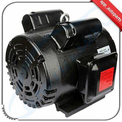 5 Hp Air Compressor Motor 184t Frame 1750 Rpm 1-18shaft 208v-230v Cwccw