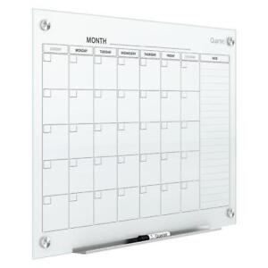 New Quartet Infinity Magnetic Glass, Dry Erase, Calendar Board, 3 X 2 Feet (3413820078) PU2
