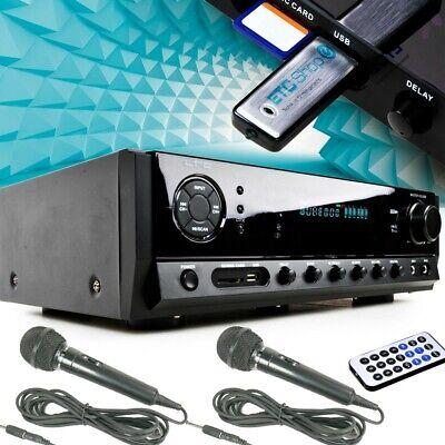 Amplificador Receptor Karaoke Mando Bluetooth MP3 USB SD LIVING-XXL