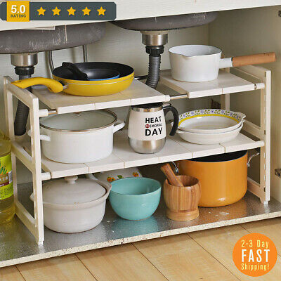 2-Tier Expandable Storage Organizer Under the Sink Shelf Kit