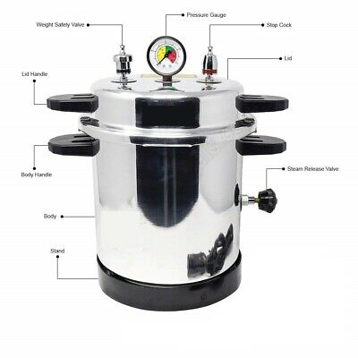 220v Aluminum Mirror Finish Electric Autoclave Pressure Cooker Type 10 Quart