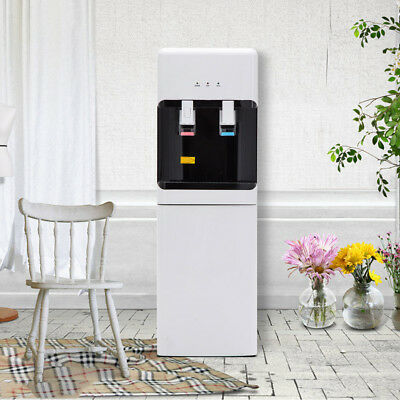 Top Loading Water Cooler Dispenser 5 Gallon Thoroughly/Hot Electric Safety Lock White