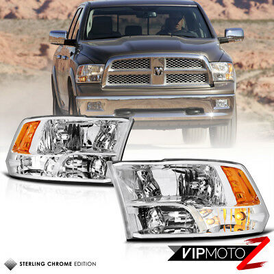 09-18 Dodge Ram Factory Quad Style Chrome Housing Clear Replacement Headlight for sale  Walnut