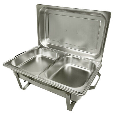 Stainless Steel 8qt Chafer Chafing Dish Full Size Buffet Trays 2 12 Size Dish