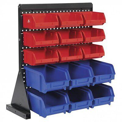 Storage Bin Rack 15 Trays Parts Garage Workshop TPS1569 Sealey Table Mount NEW