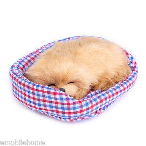 Lovely Simulation Sounding Sleeping Dog Plush Toy Nest Birthday Xmas Gift GINGER