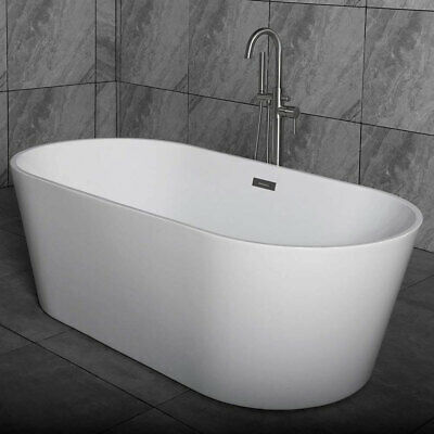 white 67 acrylic freestanding bathtub b0013