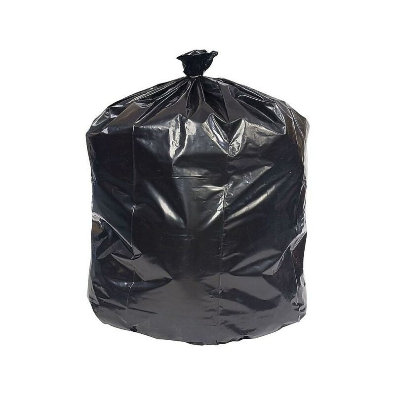 Brighton Trash Bags 30-33 Gallon 33x39 Low Density 0.6 Mil Black 250 CT 814856