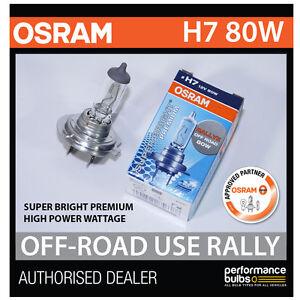 NEW! 62261SBP OSRAM H7 80W SUPER BRIGHT PREMIUM OFF-ROAD RALLY BULB (x1)