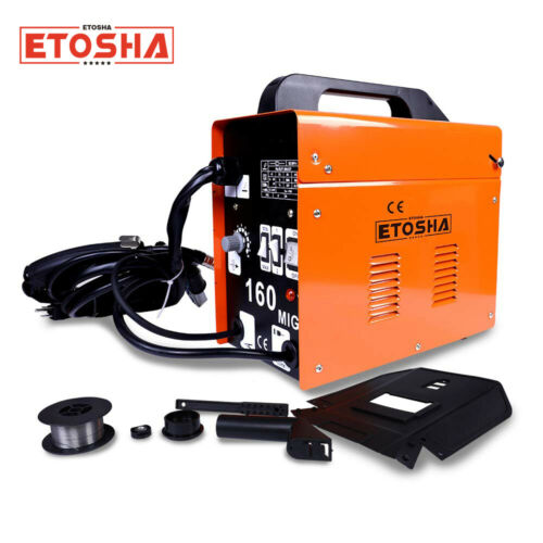 160 MIG Welder Inverter Flux Core Wire Gasless Automatic Feed Welding Machine AC