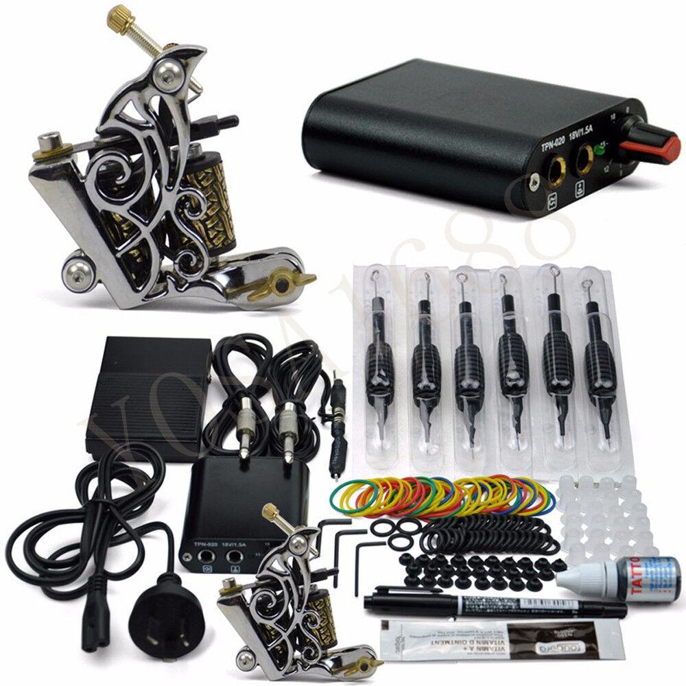 Details about Tattoo Machine set Tattoo Guns wrap coils Pigment Induction  Complete Tattoo Kit