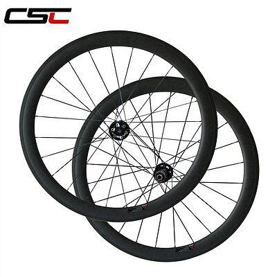 Csc 25Mm Width Disc Brake Hub 50Mm Clincher Tubeless Compatibe Carbon  Wheelset
