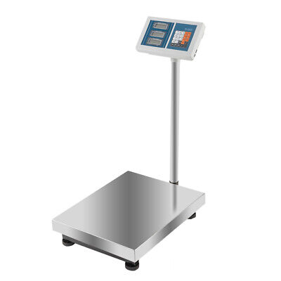 660lbs 300kg Digital Floor Bench Scale Weight Computing Platform Postal Shipping