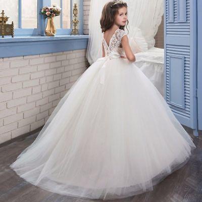 Gorgeous First Communion Dresses (Gorgeous Floral First Communion Dress Girl Christmas Gowns Ruffles Pageant)