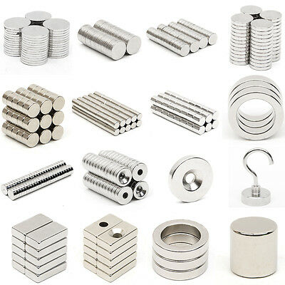 Wholesale Tiny Block Round Disc Ring Hole Rare Earth Neodymium Magnets N52 Grade