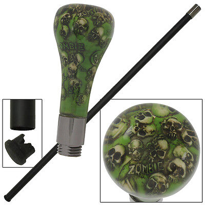 Pandemonium Zombie Killer Skull End of the World Walking Cane Stick