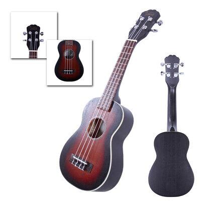 """New 21"""" Sapele Mini Soprano Ukulele Uke 4 Strings Hawaiian Guitar Sunset"""