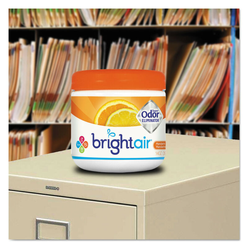 BRIGHT Air Odor Eliminator Mandarin Orange/Fresh Lemon 14oz 6/ctn 900013CT NEW